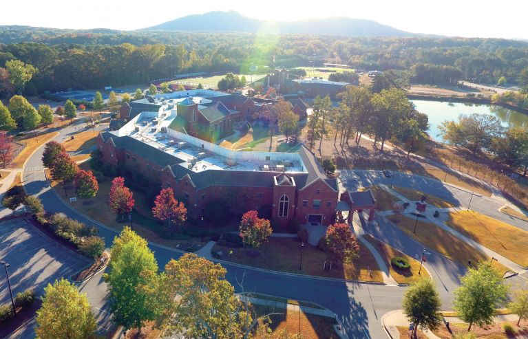 MPCS Campus shadow of Kennesaw Mountain