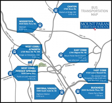Bus Transportation Map