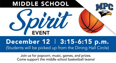 Middle School Spirit Event for Basketball