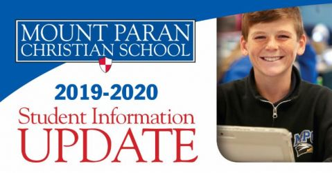 Update Student Information for 2019-2020