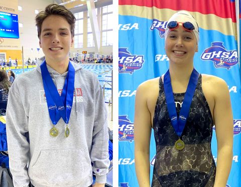 Three Swim State Titles