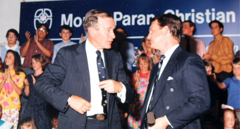 George H.W. Bush visits MPCS
