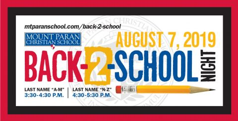 Back-2-School Night 2019