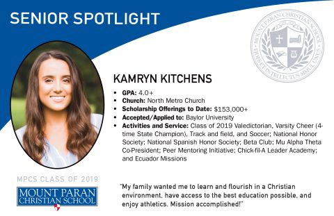 Senior Spotlight: Valedictorian, Kamryn Kitchens