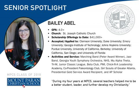 Senior Spotlight: Bailey Abel