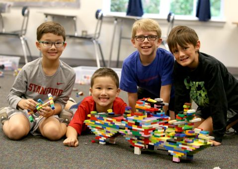 Lego camp boys at MPCS