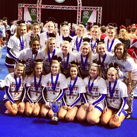 Competition Cheer Wins Eighth Title