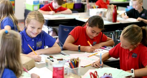MPCS lower school students working in classroom