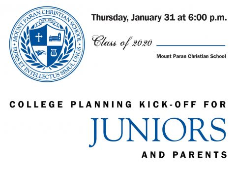 College Planning Kick-off for Juniors